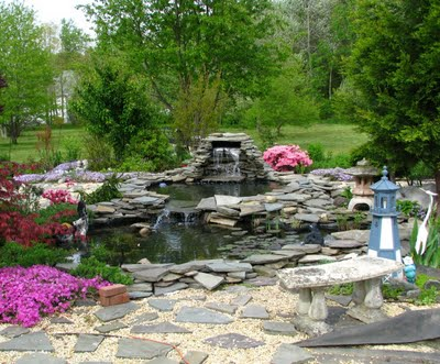 изготовление пруда в саду