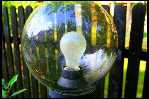 оригинальный тип лампы для сада
