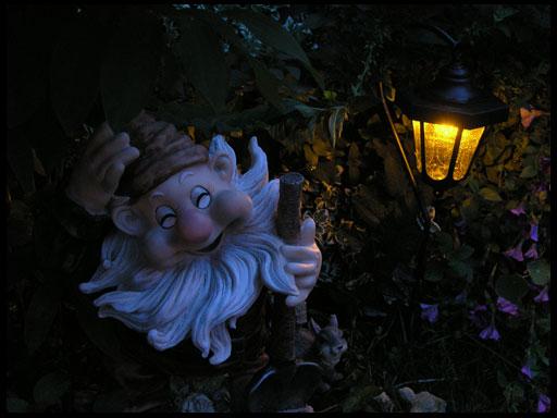 фонари в саду