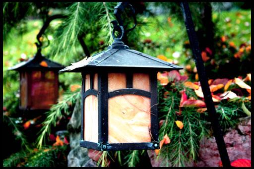 самодельные фонари для садового участка