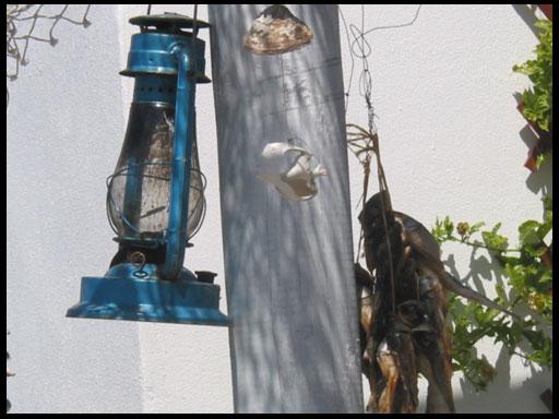 керосиновая лампа как декор
