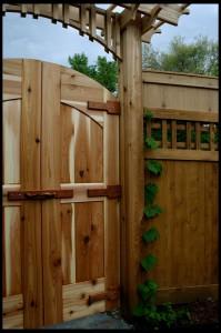 ворота на даче фото