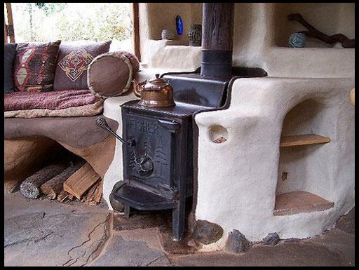 печь камин для дачи