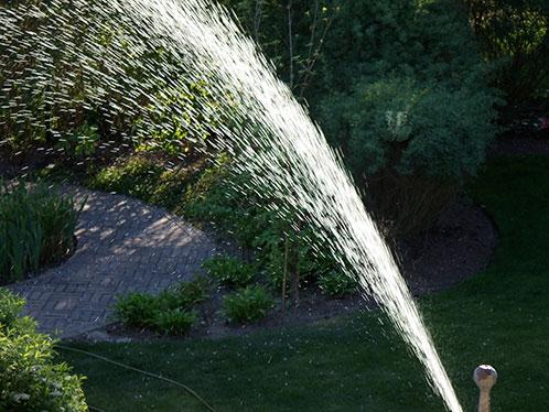 водопровод в саду