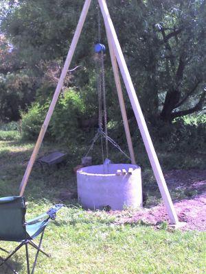 строительство колодца на даче