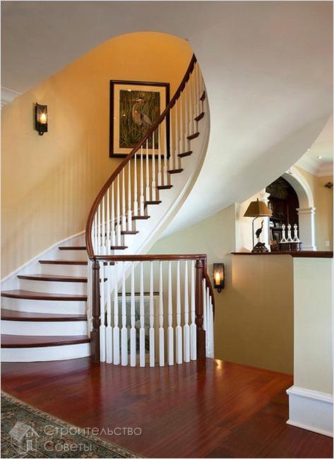 Дизайн винтовой лестницы на даче