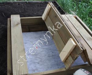 Песочница с крышкой изготовление