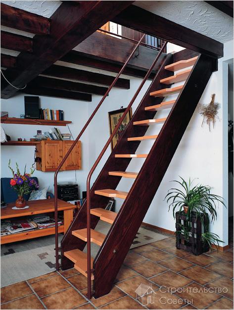 удобная лестница для дачи
