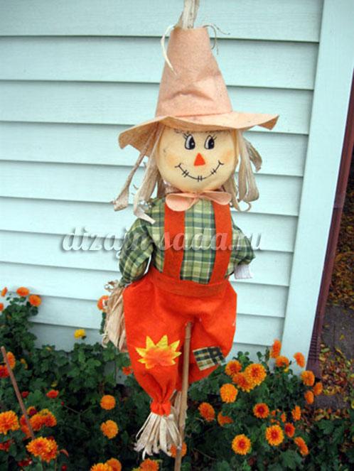 как сделать пугало в сад
