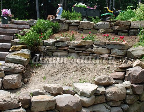 наклонный участок сада