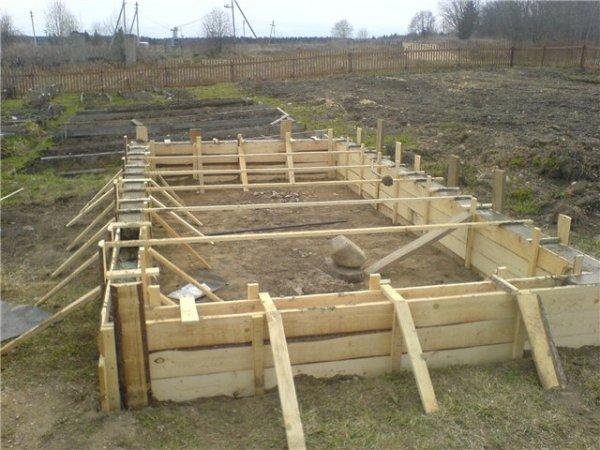 бетонный фундамент для теплицы